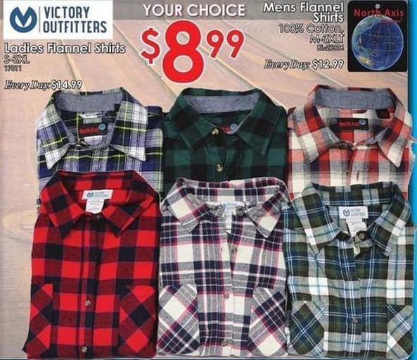 Rural King Black Friday: Victory Outfitters Ladies Flannel Shirts for $8.99