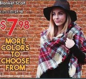 Rural King Black Friday: Blanket Scarf for $7.98