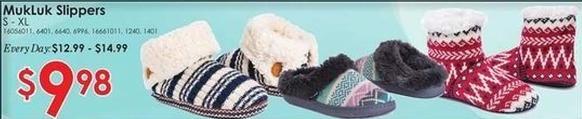 Rural King Black Friday: MukLuk Slippers for $9.98