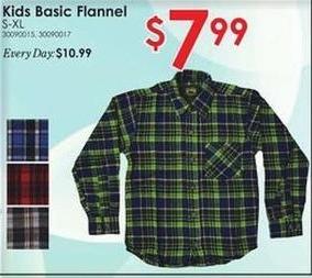 Rural King Black Friday: Kids' Basic Flannel for $7.99