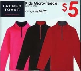 Rural King Black Friday: French Toast Kids' Micro-Fleece for $5.00