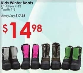 Rural King Black Friday: Kids' Winter Boots for $14.98