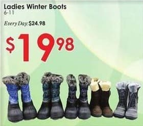 Rural King Black Friday: Ladies Winter Boots for $19.98