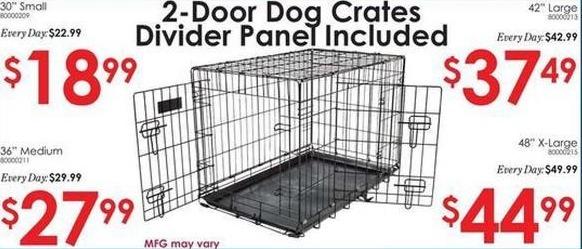 "Rural King Black Friday: 42"" Large 2-Door Dog Crate for $37.49"