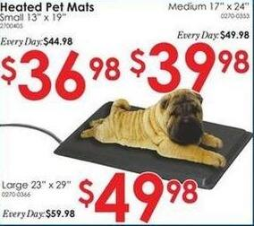 "Rural King Black Friday: Medium 17""x24"" Heated Pet Mat for $39.98"