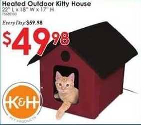 Rural King Black Friday: K&H Heated Outdoor Kitty House for $49.98