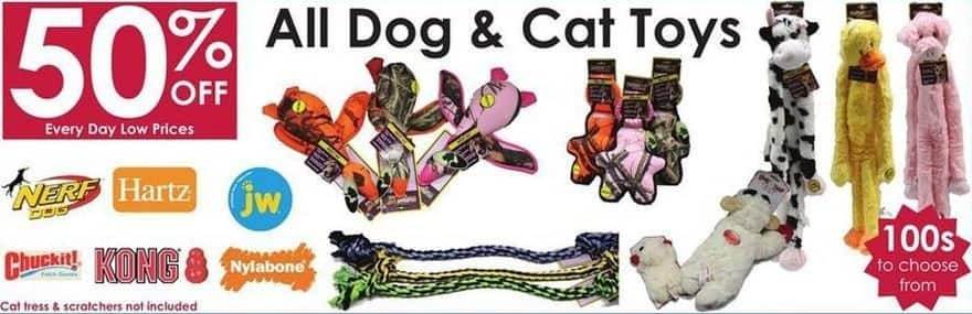 Rural King Black Friday: Entire Stock Dog and Cat Toys - 50% Off