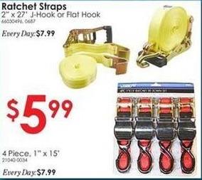 """Rural King Black Friday: 2""""x27' J-Hook or Flat Hook Ratchet Strap for $5.99"""