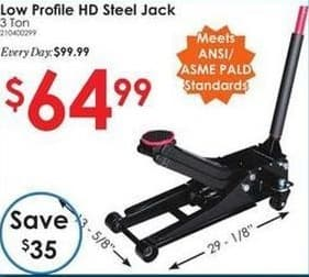 Rural King Black Friday: 3 Ton Low Profile HD Steel Jack for $64.99