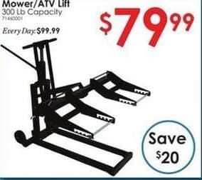 Rural King Black Friday: 300-lb Capacity Mower/ATV Lift for $79.99