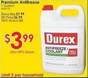 Rural King Black Friday: 1 Gallon Premium Antifreeze for $3.99 after $3.00 rebate