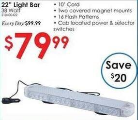 "Rural King Black Friday: 22"" 38 Watt Light Bar for $79.99"