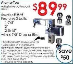 Rural King Black Friday: Aluma-Tow Adjustable Ball Mount for $89.99