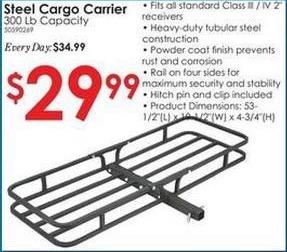 Rural King Black Friday: 300-lb Capacity Steel Cargo Carrier for $29.99