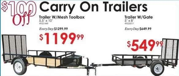 Rural King Black Friday: 5'x8' Trailer w/ Gate for $549.99