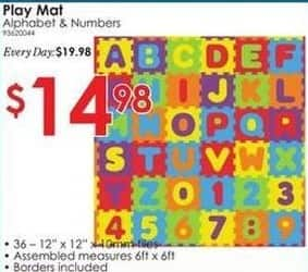 Rural King Black Friday: Alphabet and Numbers Play Mat for $14.98