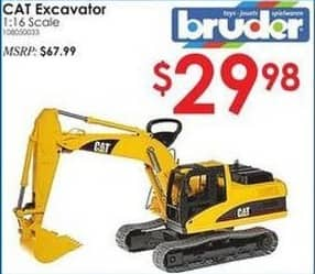 Rural King Black Friday: Bruder 1:16 Scale Cat Excavator for $29.98