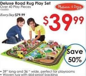 Rural King Black Friday: Melissa & Doug Deluxe Road Rug Play Set for $39.99