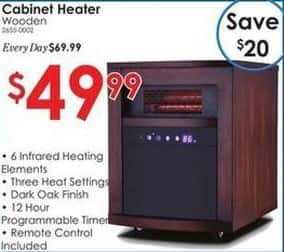 Rural King Black Friday: Wooden Cabinet Heater for $49.99