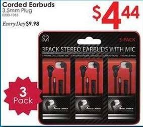 Rural King Black Friday: Corded Earbud 3-Pack for $4.44
