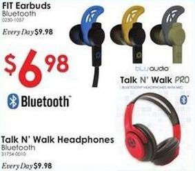 Rural King Black Friday: FIT Bluetooth Earbuds or Talk N' Walk Headphones for $6.98