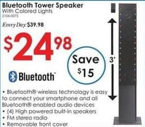 Rural King Black Friday: Bluetooth Tower Speaker w/ Colored Lights for $24.98