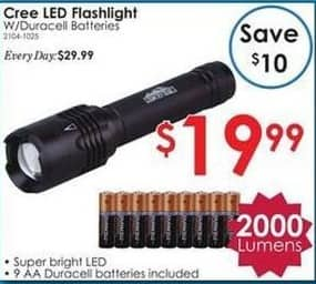 Rural King Black Friday: 2000 Lumen Cree LED Flashlight for $19.99