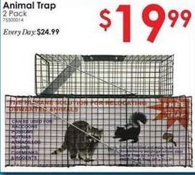 Rural King Black Friday: Animal Trap 2 Pack for $19.99