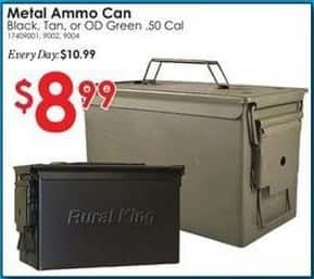 Rural King Black Friday: Metal Ammo Can for $8.99