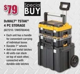 Rural King Black Friday: DeWalt Tstak 4-pc Storage for $79.00