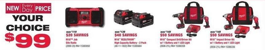 Rural King Black Friday: Milwaukee M18 RedLithium High Capacity Battery 2-Pack for $99.00