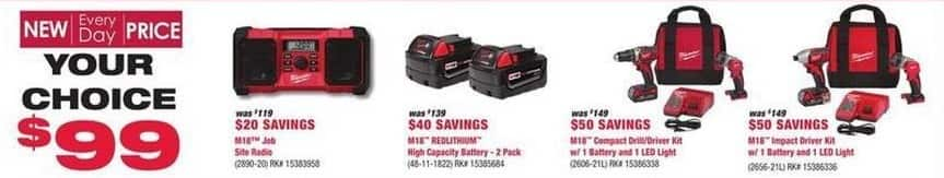 Rural King Black Friday: Milwaukee M18 Compact Drill/Driver Kit w/ 1 Battery and 1 LED Light for $99.00