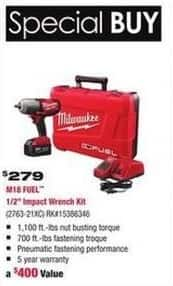 "Rural King Black Friday: Milwaukee M18 Fuel 1/2"" Impact Wrench Kit for $279.00"