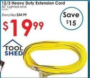 Rural King Black Friday: Tool Shed 50-ft Heavy Duty Extension Cord for $19.99