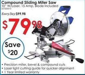 Rural King Black Friday: Compound Sliding Miter Saw for $79.98