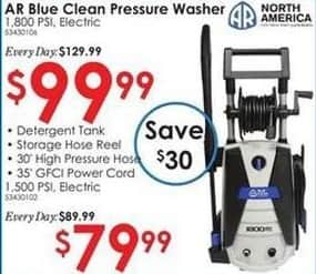 Rural King Black Friday: AR Blue Clean 1800 PSI Pressure Washer for $99.99