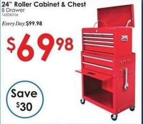 """Rural King Black Friday: 24"""" 8-Drawer Roller Cabinet and Chest for $69.98"""