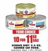 Blains Farm Fleet Black Friday: (10) Science Diet 5.5 oz Canned Cat Food for $11.00