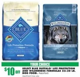 Blains Farm Fleet Black Friday: Blue Buffalo Life Protection or Wilderness Formula Dog Food 22-30 Pound Bags - $10 Off