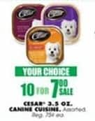 Blains Farm Fleet Black Friday: (10) Cesar 3.5 oz Canine Cuisine, Select Varieties for $7.00