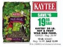 Blains Farm Fleet Black Friday: Kaytee 20 Pound Nut & Fruit Wild Bird Food for $19.99