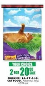 Blains Farm Fleet Black Friday: (2) Friskies Cat Food 16-17.6 Pound Bags, Select Varieties for $20.00