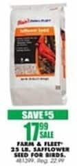 Blains Farm Fleet Black Friday: Farm & Fleet 25 Pound Safflower Seed for Birds for $17.99