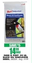 Blains Farm Fleet Black Friday: Farm & Fleet 50 Pound Black Oil Sunflower Seeds for $14.99