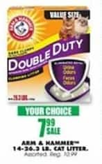 Blains Farm Fleet Black Friday: Arm & Hammer 14-26.3 Pound Cat Litter, Select Varieties for $7.99