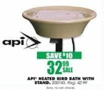 Blains Farm Fleet Black Friday: API Heated Bird Bath w/ Stand for $32.99