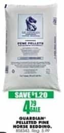 Blains Farm Fleet Black Friday: Guardian Pelleted Pine Horse Bedding for $4.79