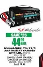 Blains Farm Fleet Black Friday: Schumacher 75/12/2 Amp Battery Charger w/ LED for $44.99