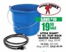 Blains Farm Fleet Black Friday: Little Giant 10-Qt Flat Back Heated Bucket for $19.99