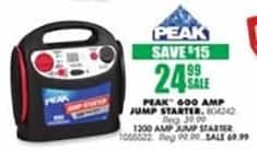 Blains Farm Fleet Black Friday: Peak 600 Amp Jump Starter for $24.99
